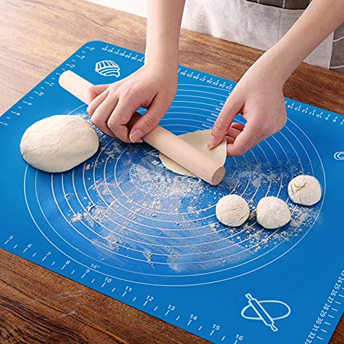 OKeanu Silicone Baking Mat with Measurements, Pastry...