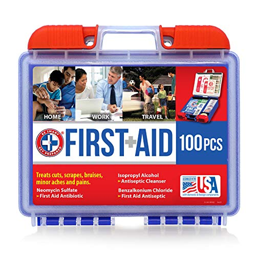 Be Smart Get Prepared 100 Piece First Aid Kit: Clean,...