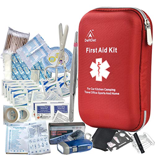 deftget 163 Pieces First Aid Kit Waterproof IFAK Molle...