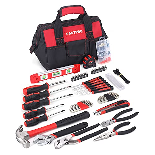 FASTPRO 215-Piece Home Repairing Tool Set with 12-Inch...