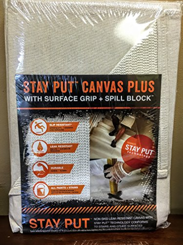 Trimaco 04328 Slip Resistant Dropcloth Stay Put Canvas...